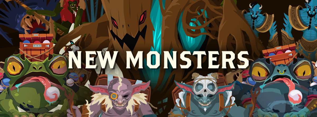 FIND OUT MORE ABOUT: NEW MONSTERS!
