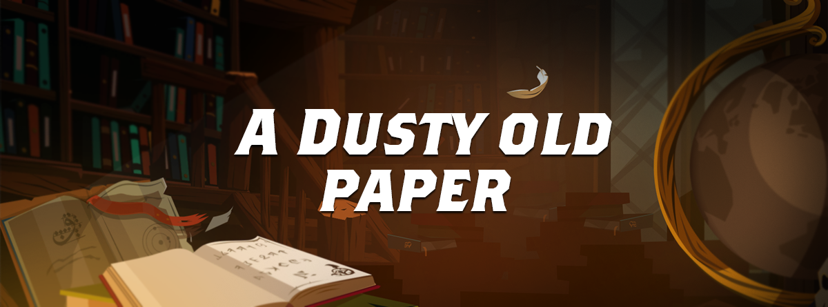 A dusty old Paper